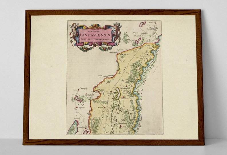 Map Of Uberlingen Germany.Lake Constance Old Map Print Of Germany Bodensee Rhine River Untersee Uberlingen Seerhein Erskircher Ried Markdorf Muhlhofen Ob