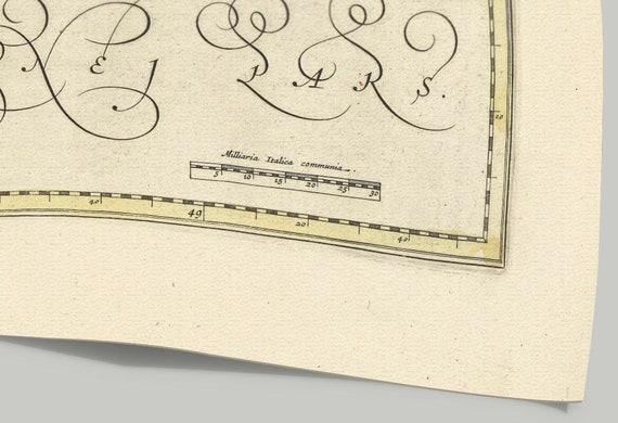 Attica Old Map Print Of Greece Retino Canea Hercalion Malia Sfakia Marala Lutro Galini Stalida Suda