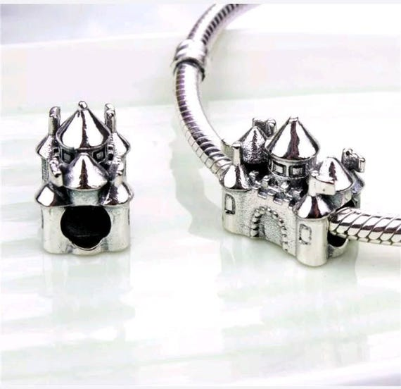 Pandora Disney Charms Sterling Silver Disneyland Palace Etsy