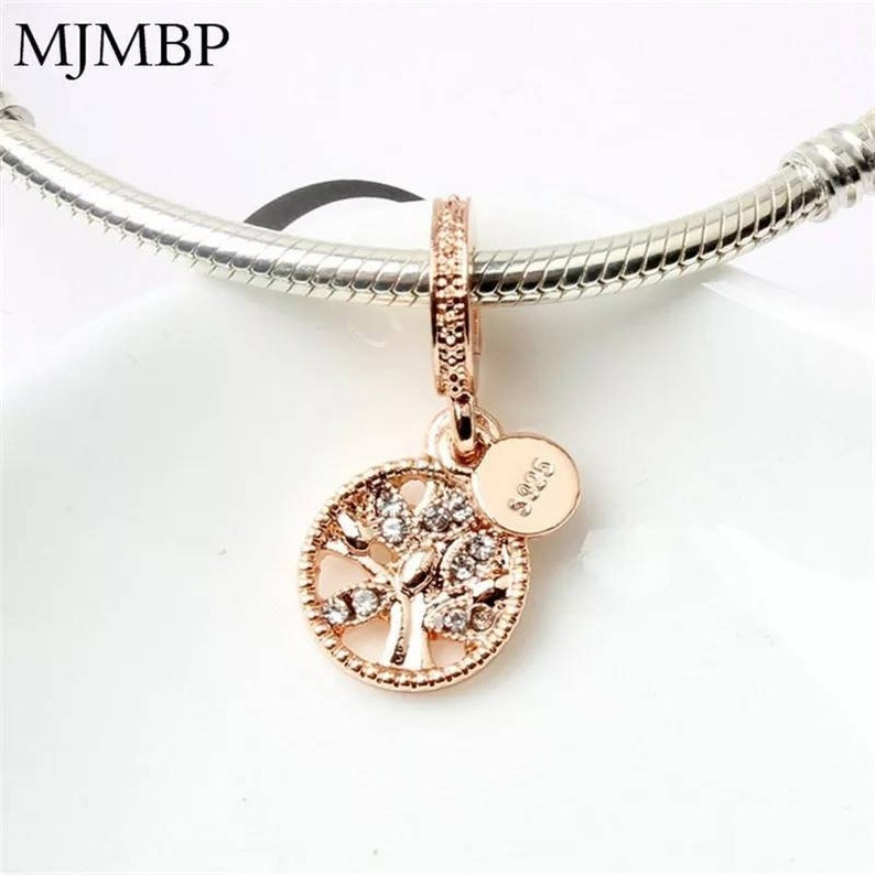 cdf47c75d3d16 Pandora charms rose gold heritage family tree of life charm