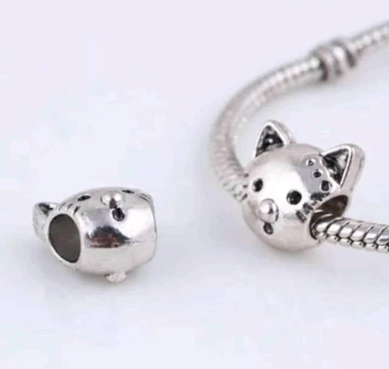 4b70316c5 Pandora charms animal cat charm silver charm bracelets and | Etsy