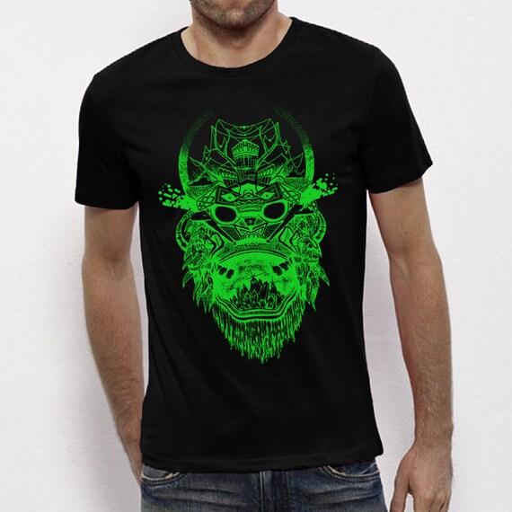HOODED SWEATSHIRT ORGANIC Cotton English khaki skull print