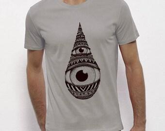 Hand Screenprinted T-shirt / Drop / Opal