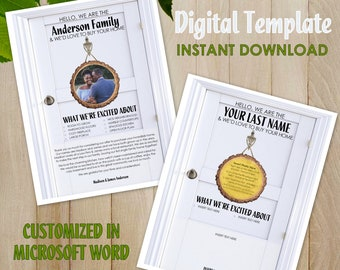 Home Buying Digital Offer Letter - New House Buyer Personalized Note - Customizable & Editable - Word Doc - Custom Printable Template