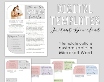 Home Buyer Offer Letter - 4 Digital Templates - House Personalized Note to Seller - Customizable & Editable - Word Doc - Custom Printable