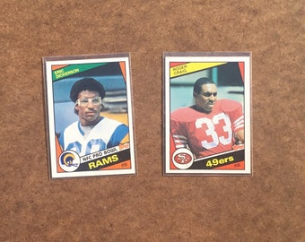 Eric Dickerson and Roger Craig Rookie NFL Cards   VINTAGE   NICE 5cfe1c1b2