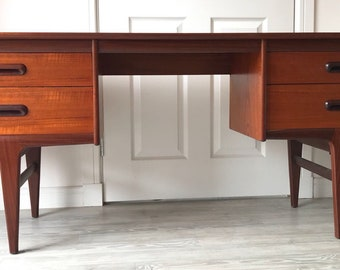 1facbcc16f2c5 Vintage Retro 1960s Mid Century Modern A. Younger Codan Teak and Afromosia  Desk or Dresser - Vanity with 4 Drawers
