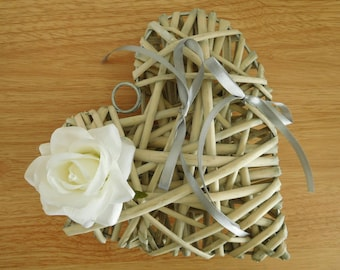 Ring bearer wedding rattan heart