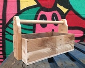 Multi functional handmade wooden tool box