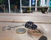 Black cab model car key ring