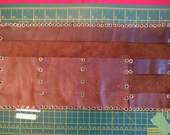 Large Leather Pen Roll/ Make Up Roll. Ready to Ship