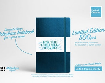 """Customized, Original Moleskine - """"For the Children of Syria""""- limited"""
