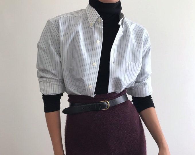 '90s Oversize Pinstripe Shirt