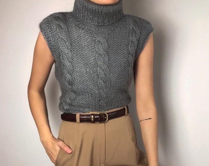 90s Vintage Fuzzy Knit
