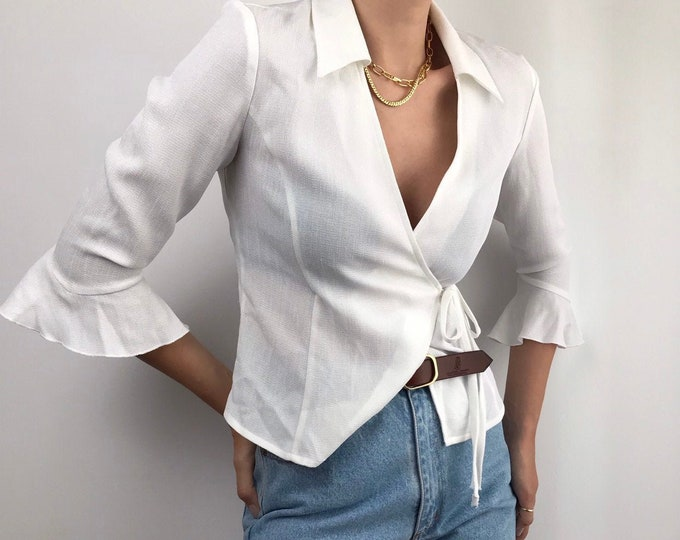 Vintage Wrap Blouse