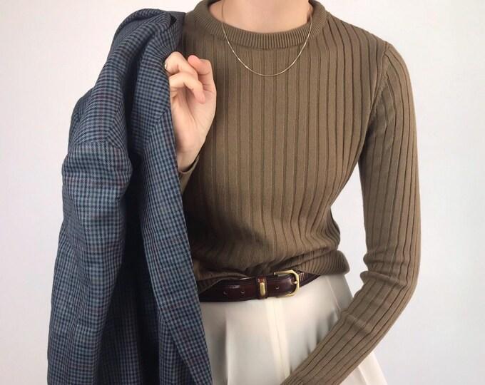 Vintage Ribbed Knit