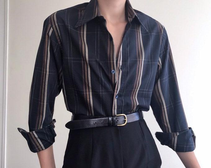 '90s Vintage Plaid Shirt
