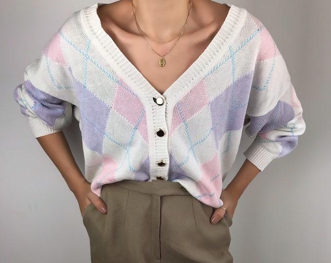 Vintage Argyle Knit