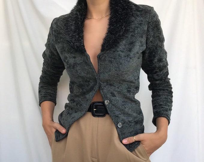 Vintage Charcoal Parisian Cardigan
