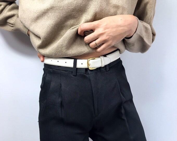 Vintage Ivory Belt