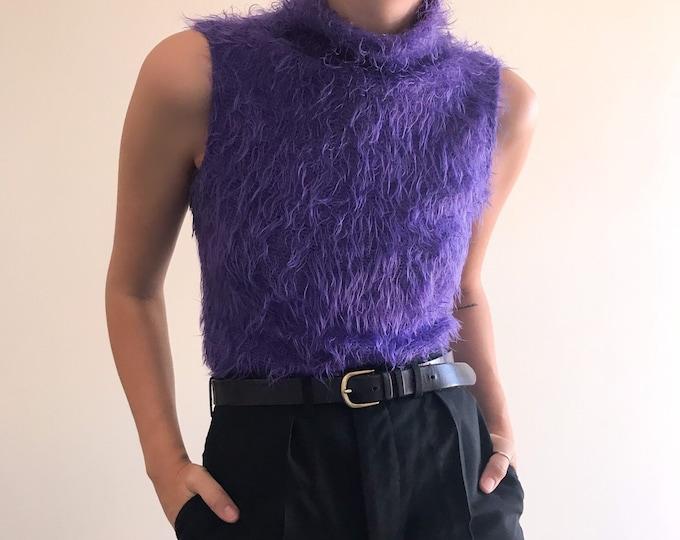 Vintage Mauve Fluffy Knit