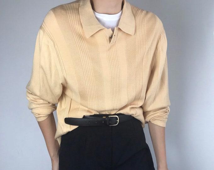 Vintage Lemon Polo Knit