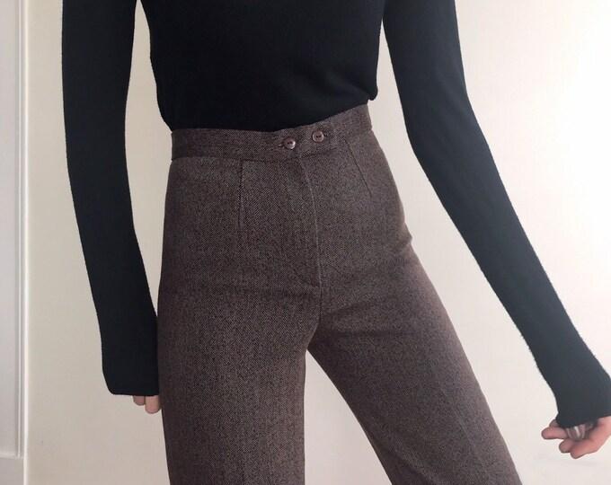 '90s Vintage Herringbone Trousers