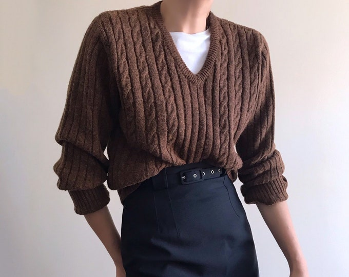 '90s Vintage Ribbed Wool Sweater