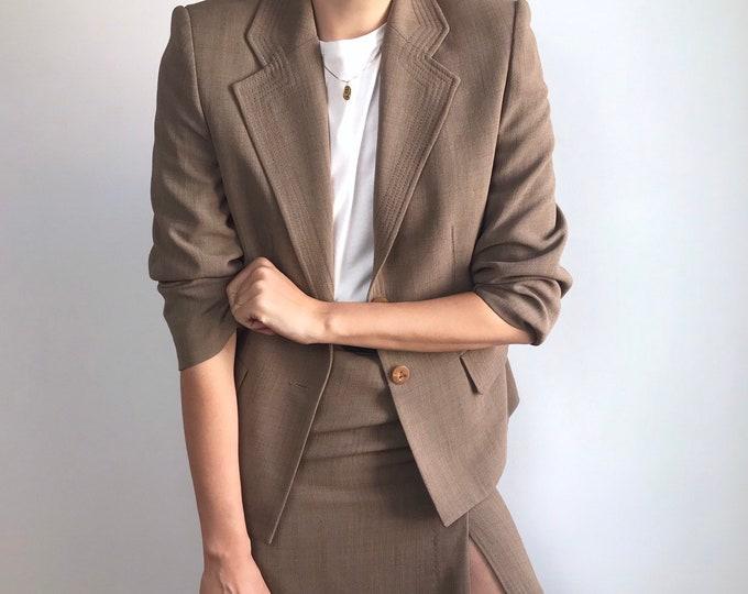 Vintage Taupe Suit