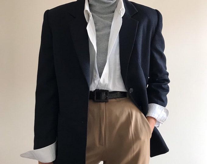 '90s Vintage Denim Texture Blazer