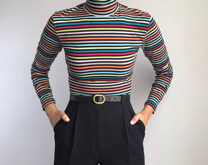 Vintage Rainbow Turtleneck