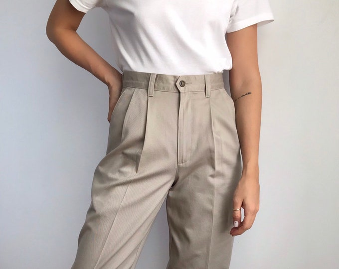 Pleated Dockers Trousers