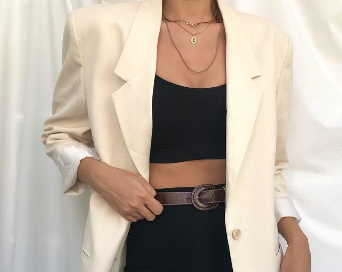 Vintage Linen Oversize Blazer