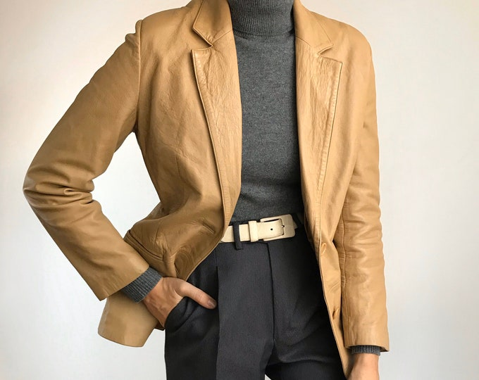 Vintage Sand Leather Jacket
