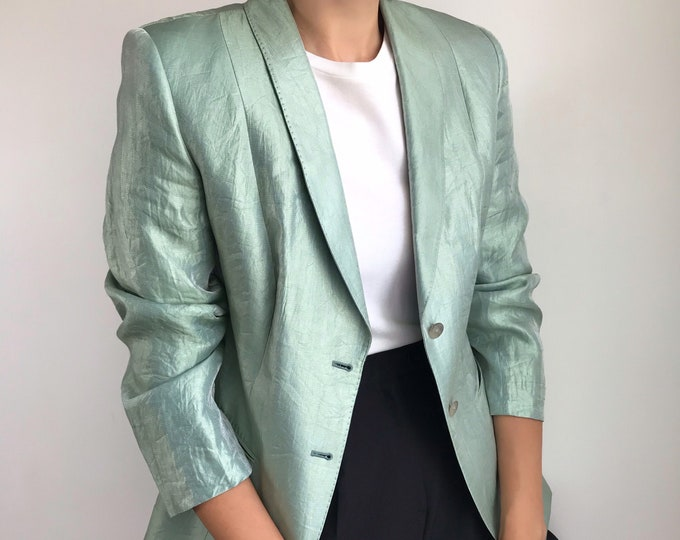 Iridescent Mint Blazer