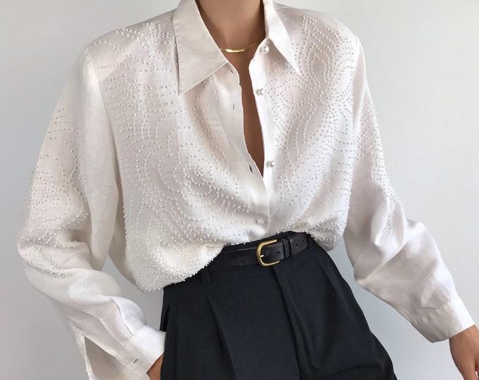Vintage Pearl Blouse