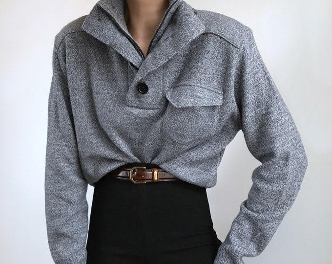 Vintage Henley Knit