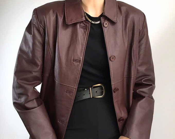 Vintage Merlot Leather Jacket