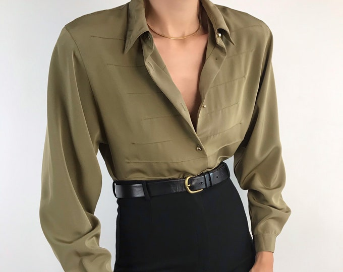 Vintage Military Blouse