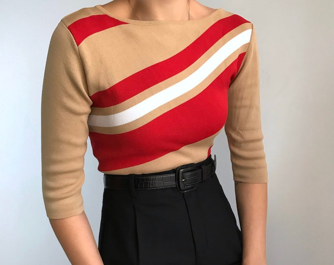Vintage Color Block Knit