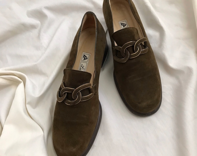 Vintage Suede Loafers