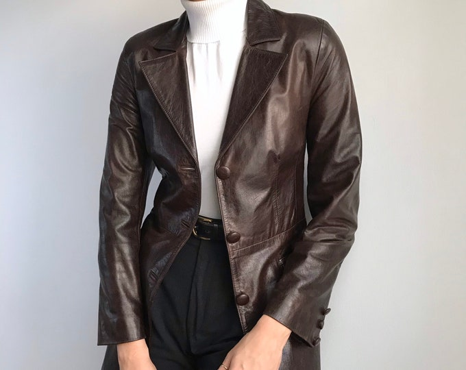 Vintage Chocolate Leather Jacket