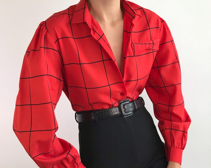 Vintage Windowpane Blouse