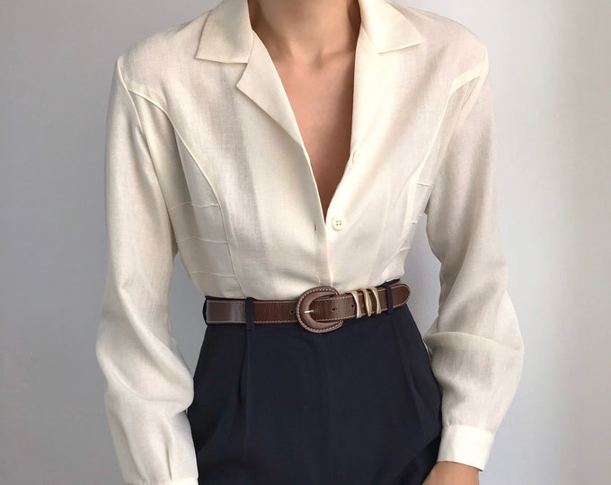 Vintage Cream Blouse