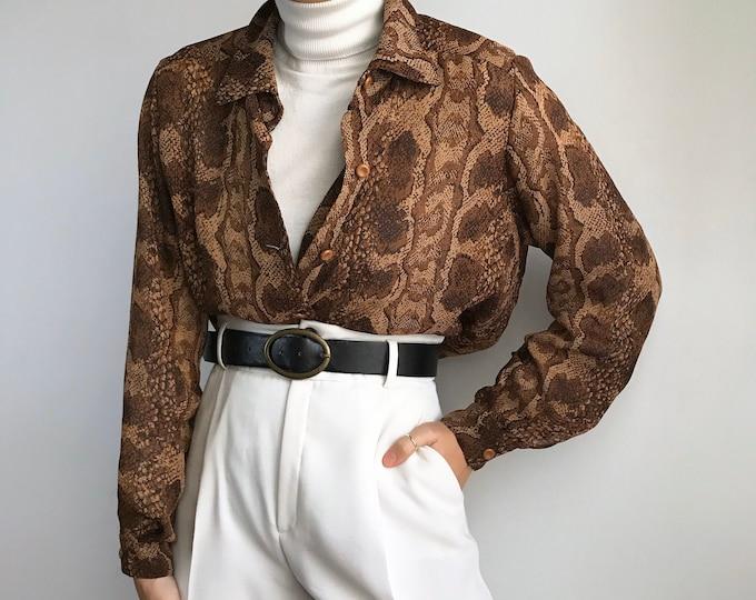 Vintage Snake Blouse