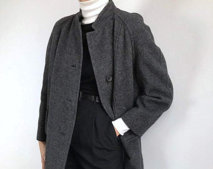 Vintage Dark Gray Overcoat