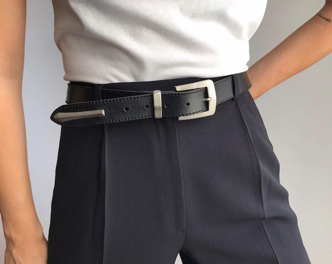 Vintage Silver Buckle Belt