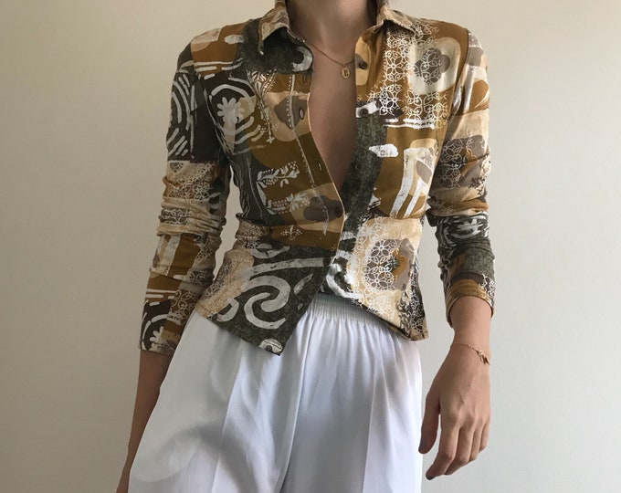 90's Vintage Cotton Button Up