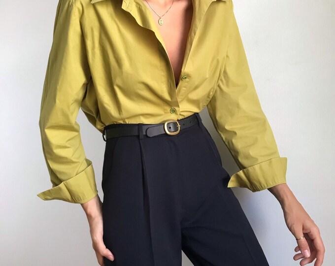 Vintage Chartreuse Shirt