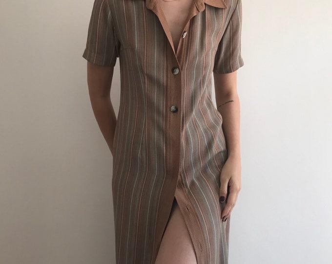 Vintage Button Down Earth Dress